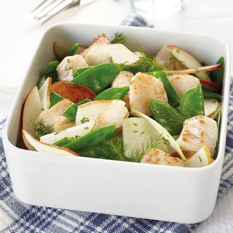 Photo de Salade de pois mangetout au sébaste prise par WW