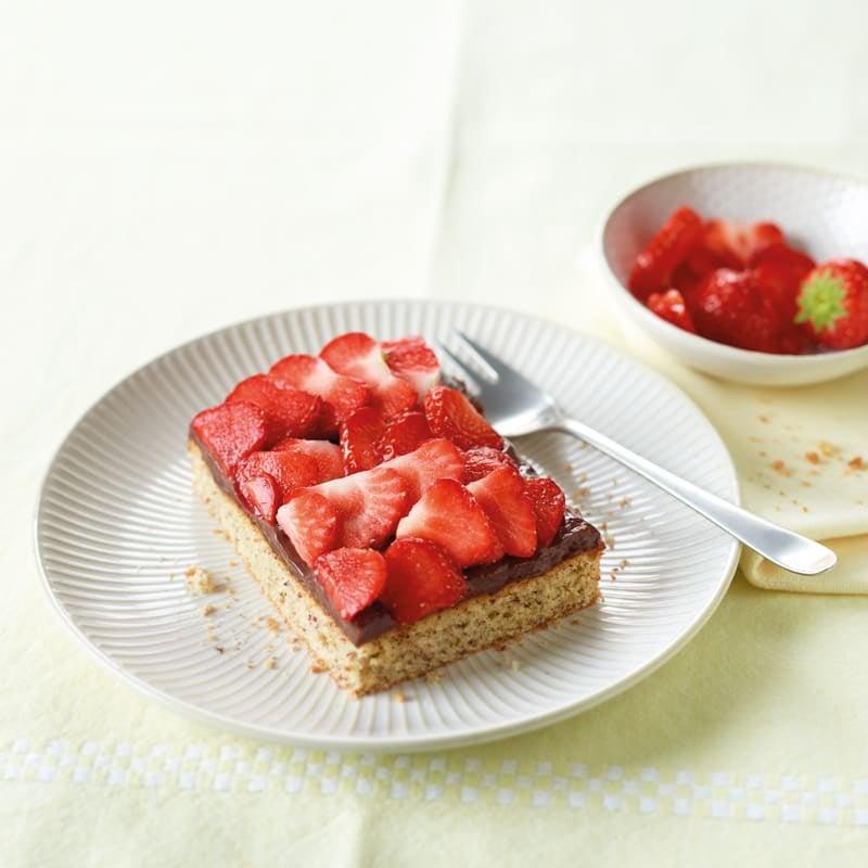Photo de Tarte aux fraises et chocolat prise par WW