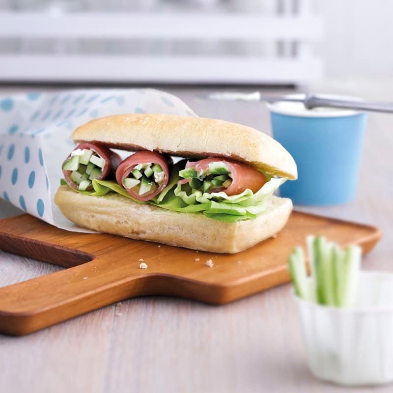 Photo de Sandwich ciabatta au jambon cru prise par WW