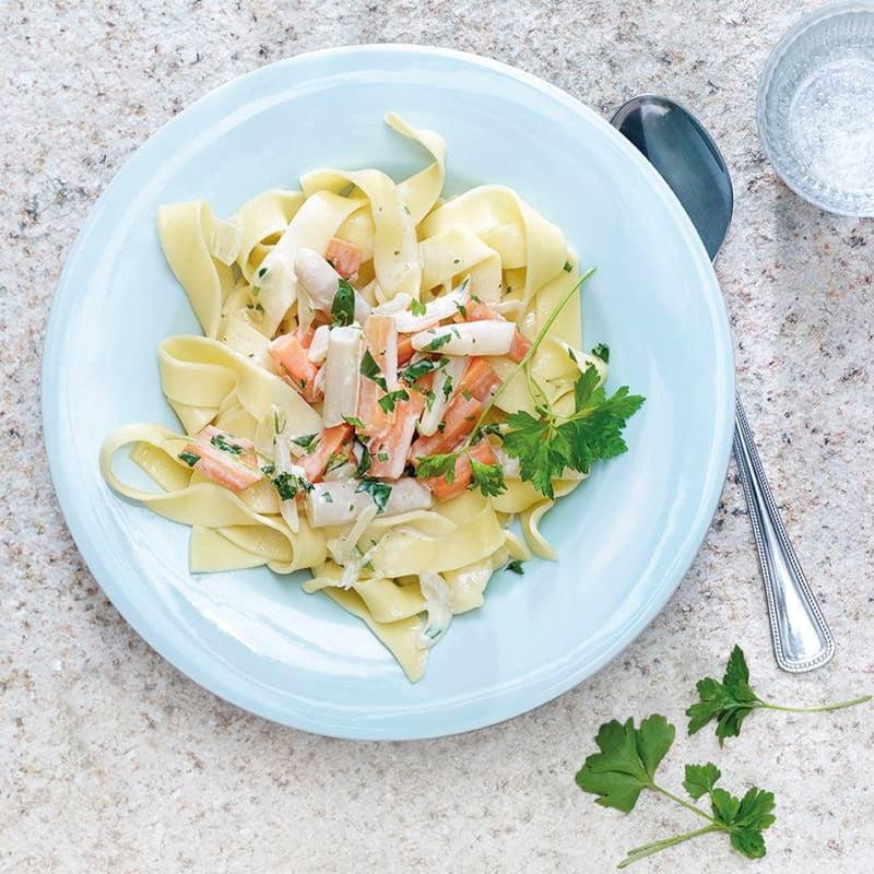 Photo de Fettuccine sauce carottes/salsifis prise par WW