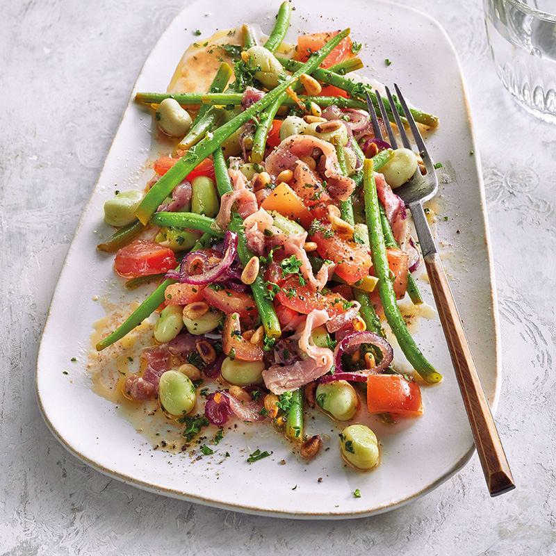 Photo de Salade de jambon serrano et fèves prise par WW