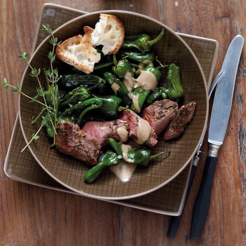 Photo de Filet d'agneau et pimientos de Padròn prise par WW