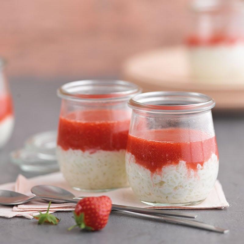 Photo de Riz au lait aux fraises prise par WW