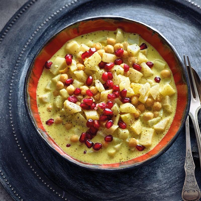 Photo de Curry de légumes de printemps et pois chiches prise par WW