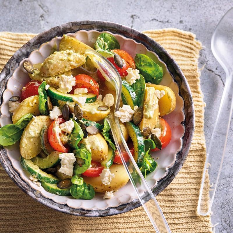 Photo de Salade de pommes de terre et vinaigrette au pesto prise par WW