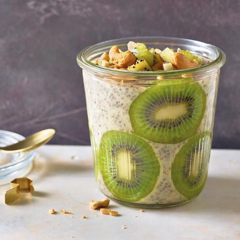 Photo de Pudding d'avoine et graines de chia au kiwi prise par WW
