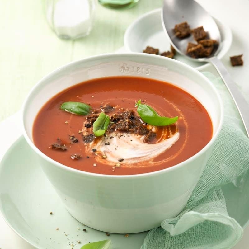 Photo de Soupe de tomates et croûtons de Pumpernickel prise par WW