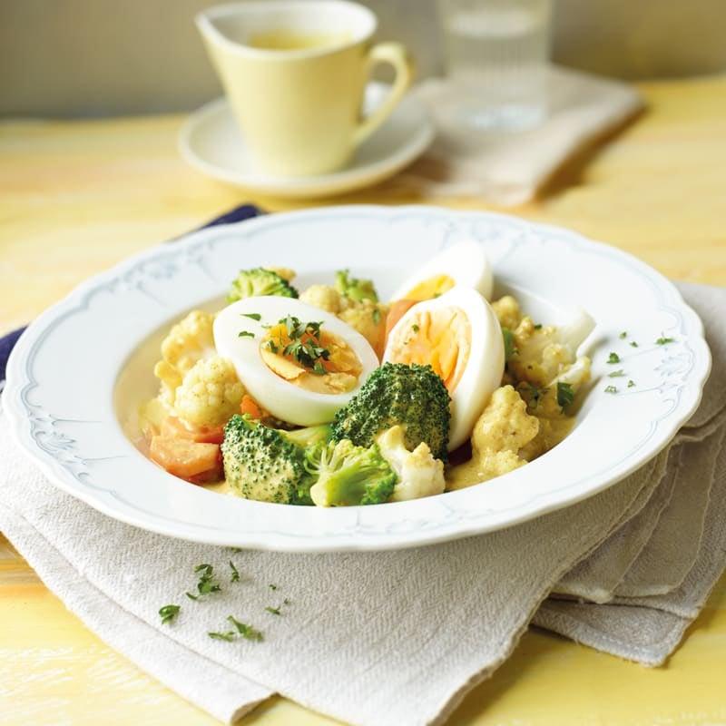 Foto Eier in Gemüse-Curry-Ragout von WW