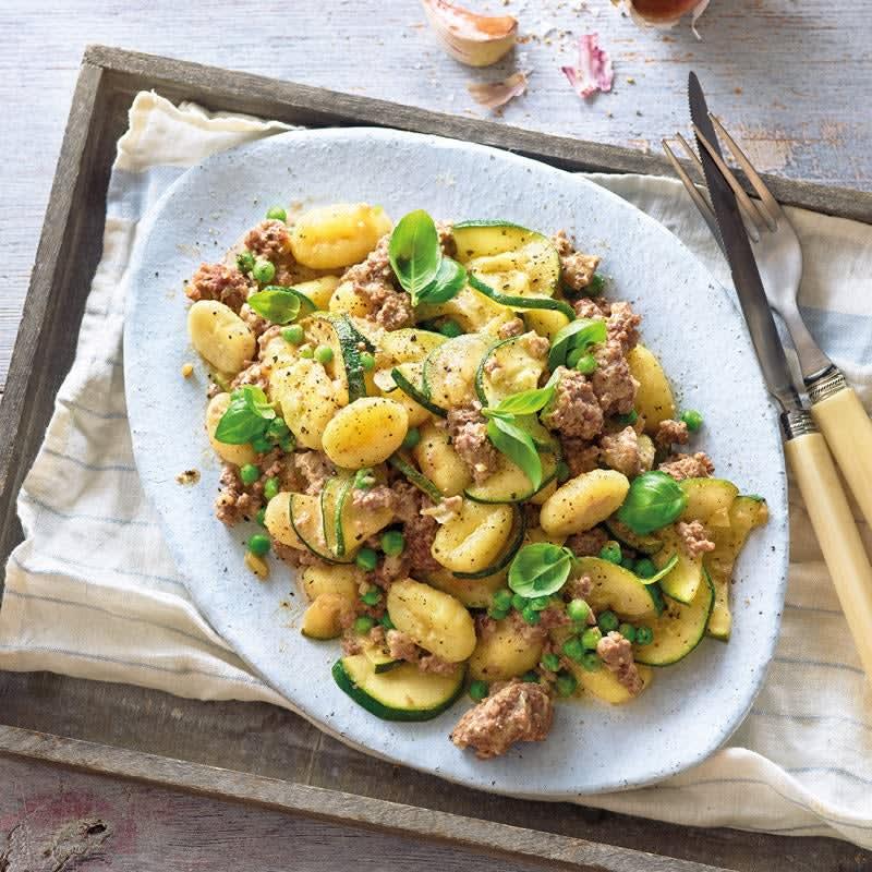 Photo de Gnocchi sauce crémeuse aux légumes et à la viande hachée prise par WW