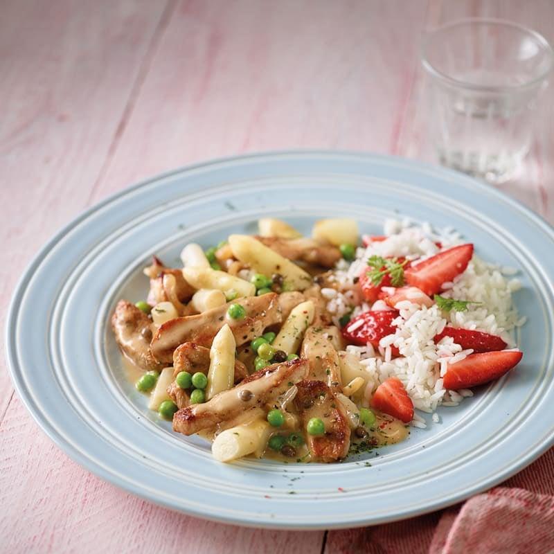 Photo de Emincé de porc et son riz aux fraises prise par WW