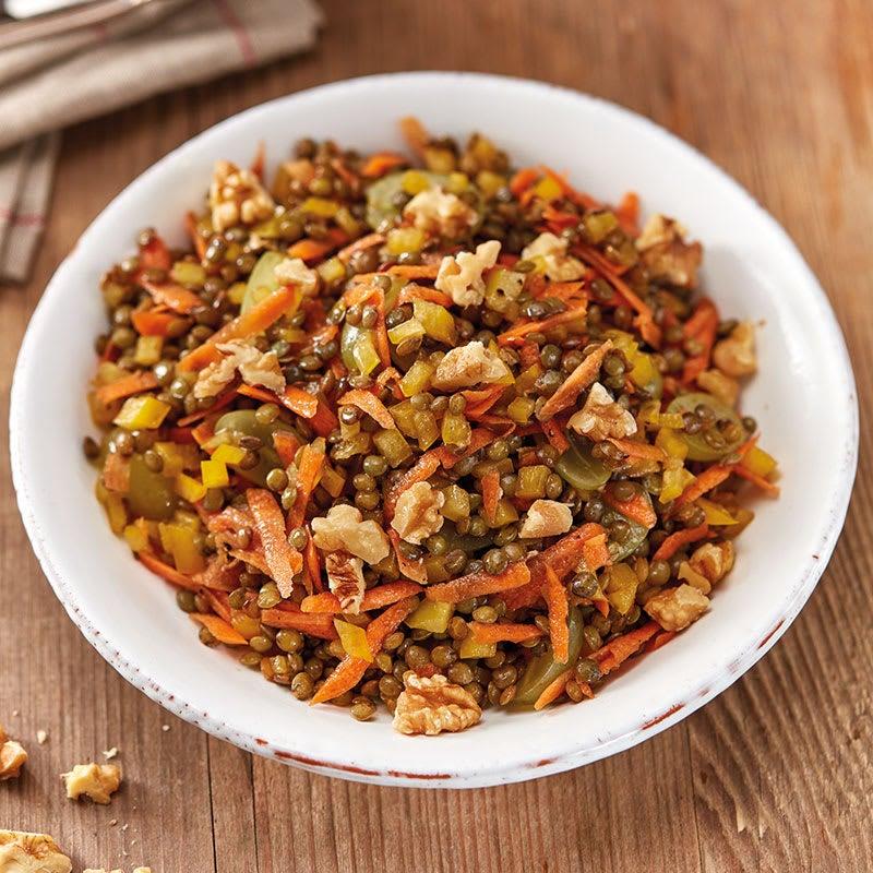 Foto Linsensalat mit Trauben und Baumnüssen / Linsensalat mit Trauben und Walnüssen von WW