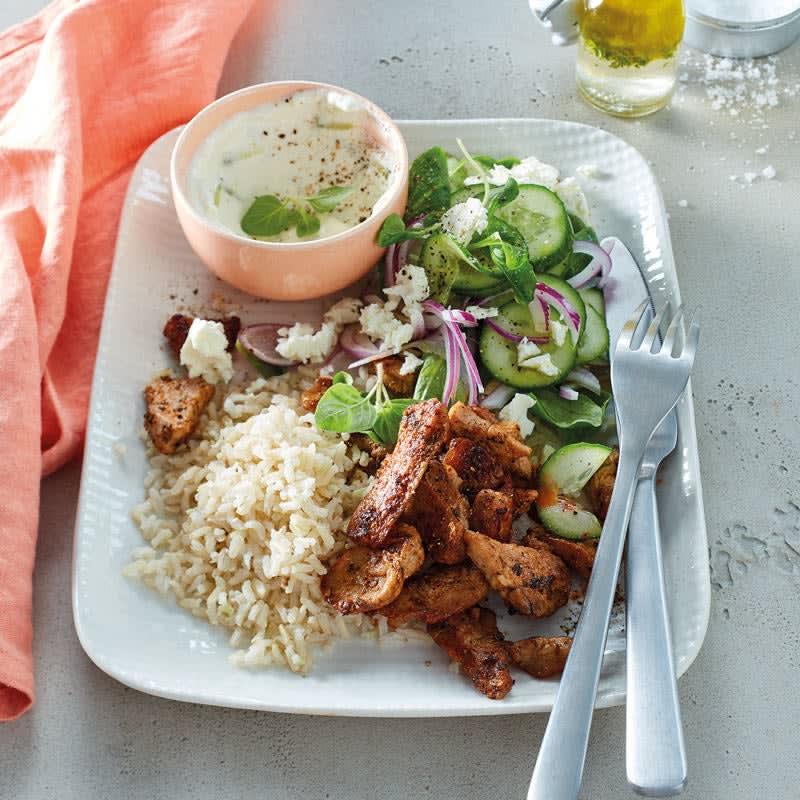 Foto Gyros mit Reis und Salat von WW