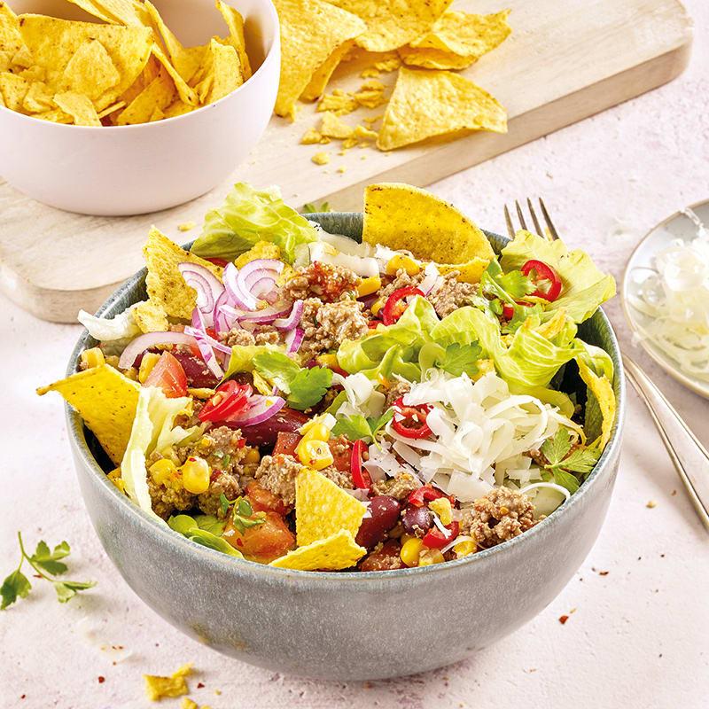 Photo de Salade de tacos à la viande hachée prise par WW