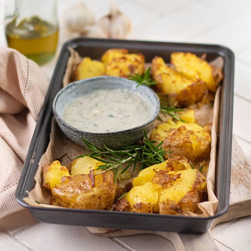 Photo de Smashed Potatoes avec tzatziki prise par WW