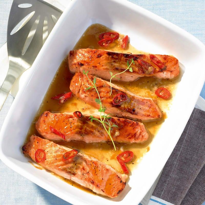 Photo de Filets de saumon au barbecue prise par WW