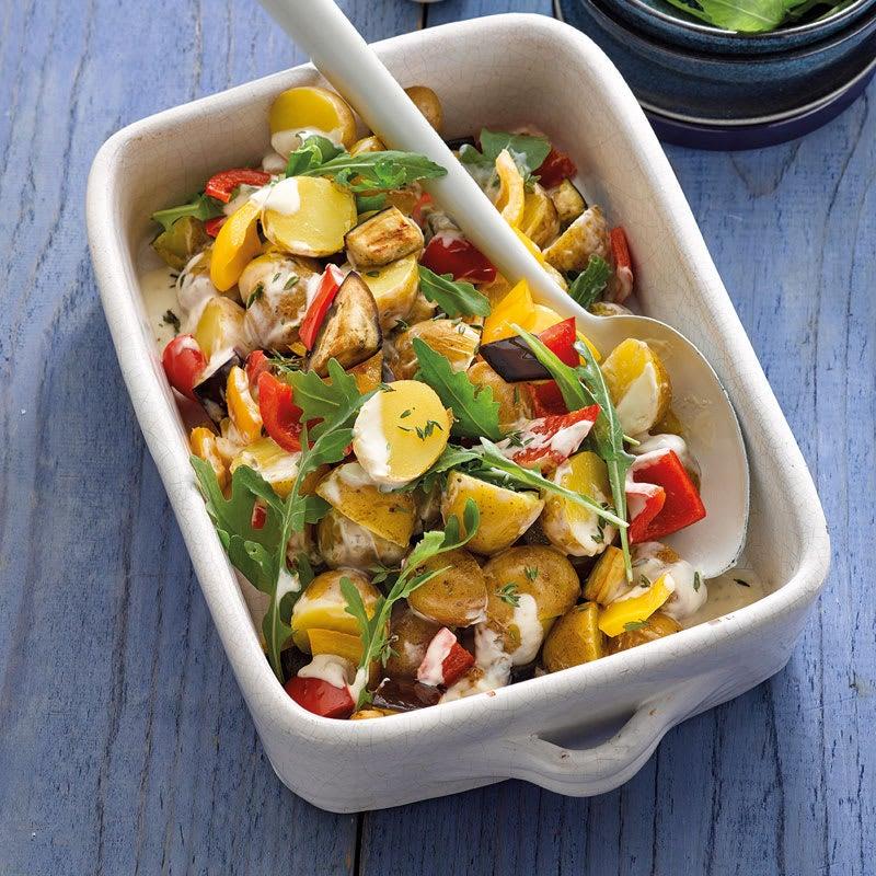 Photo de Salade de pommes de terre à la méditerranéenne avec aubergine prise par WW