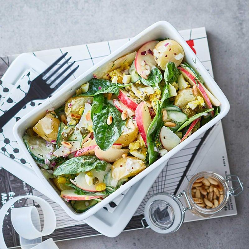Photo de Salade de pommes de terre avec pomme et concombre prise par WW