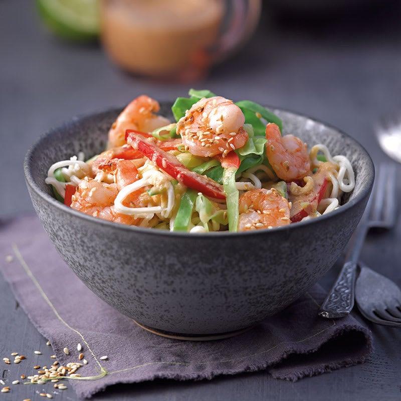 Photo de Salade de nouilles mie aux crevettes prise par WW