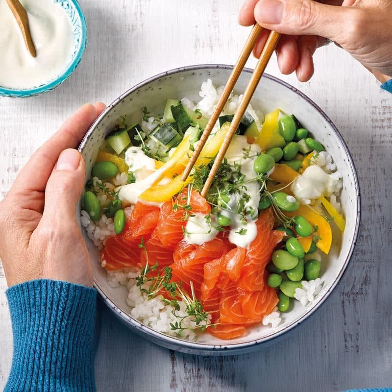Photo de Salade de sushi au saumon prise par WW