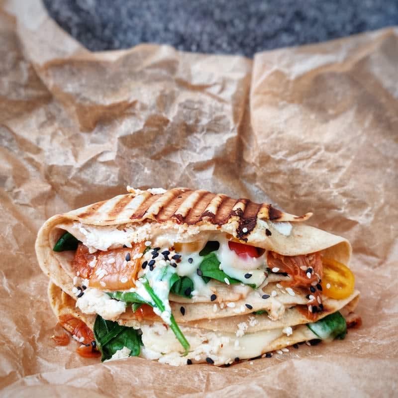 Photo de Wrap grillé aux épinards et au fromage prise par WW
