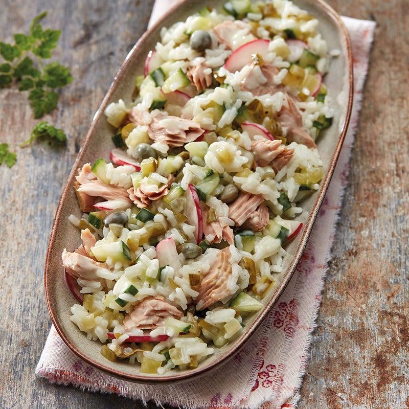 Photo de Salade de riz au thon et aux radis prise par WW