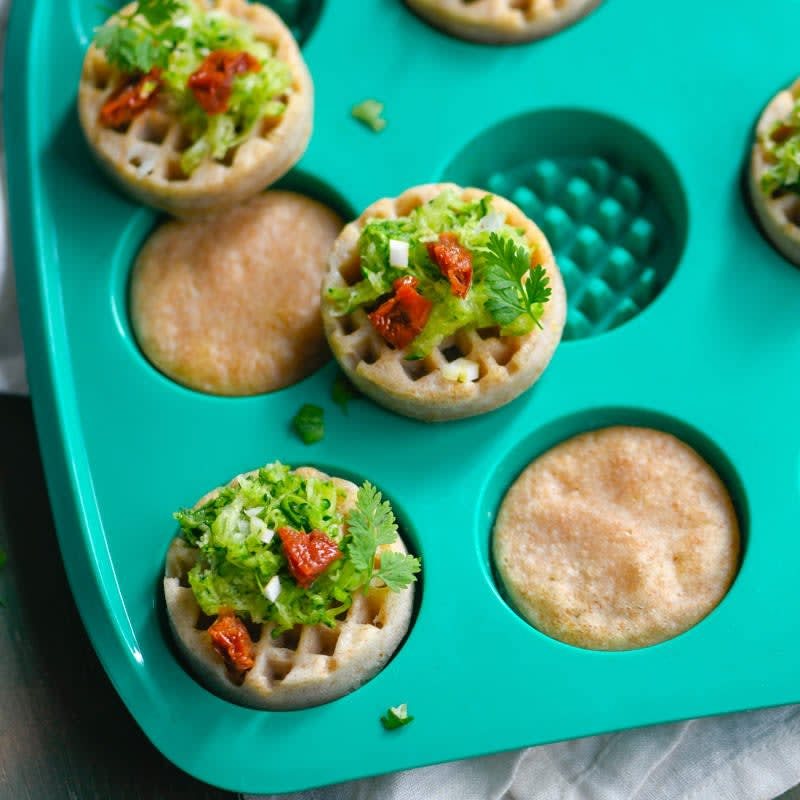 Foto Vegane Waffeln mit Gemüse und Tofu von WW