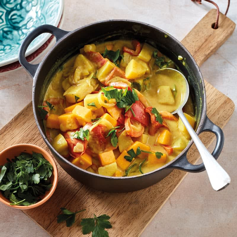 Photo de Curry de pommes de terre et mangue prise par WW