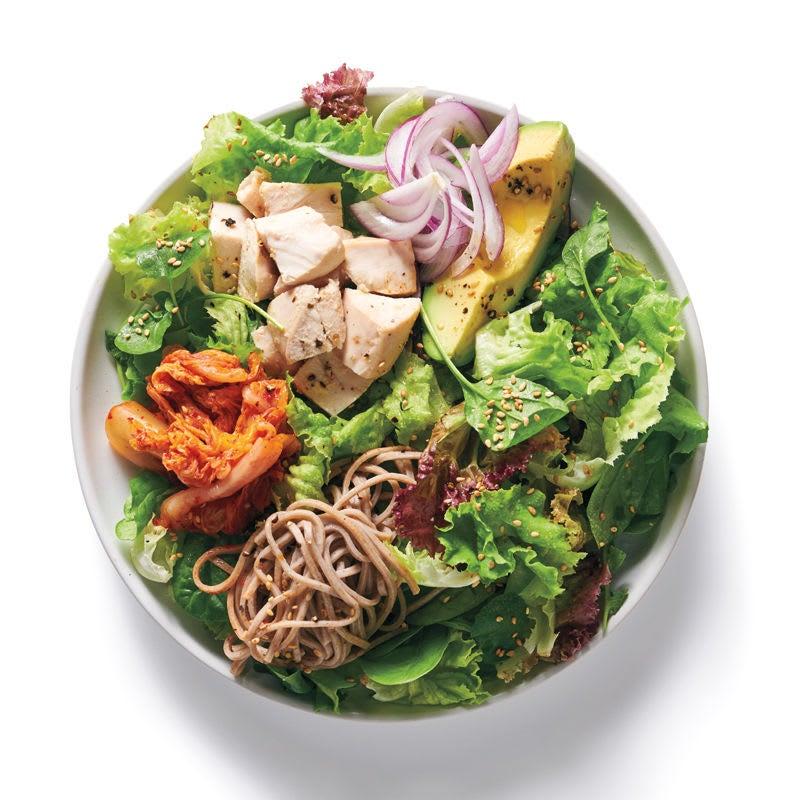 Foto Baukasten Salat Asia-Poulet und Sobanudeln von WW