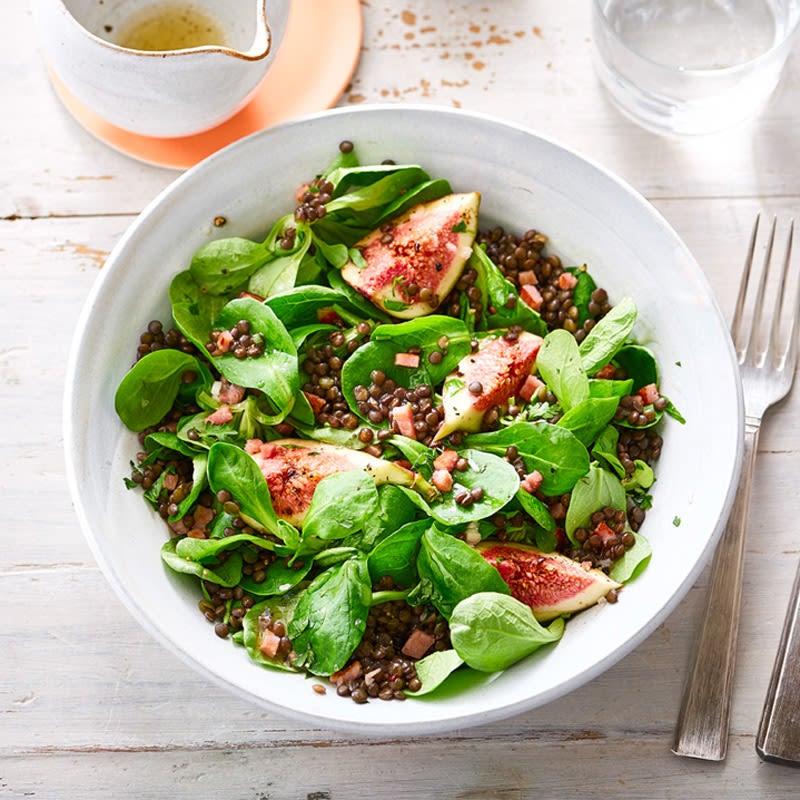 Photo de Salade de rampon aux lentilles et aux figues prise par WW