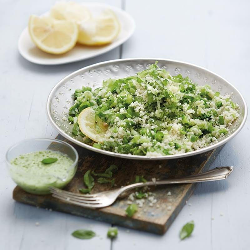 Photo de Salade de couscous, sauce au basilic prise par WW