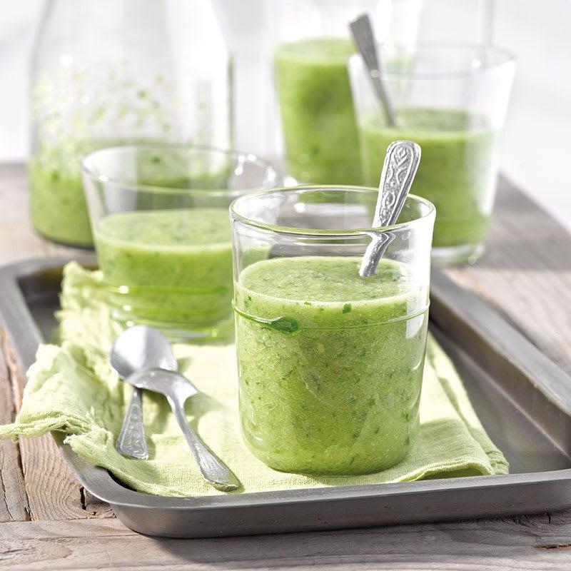 Foto Grüne Gazpacho im Glas von WW