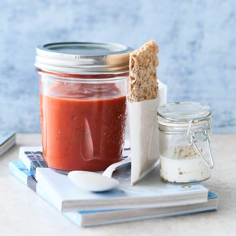 Photo de Soupe à la tomate express à emporter prise par WW