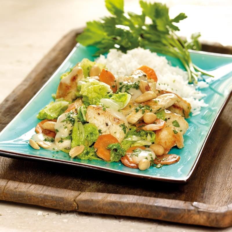 Photo de Légumes au poulet sauce cacahuètes prise par WW