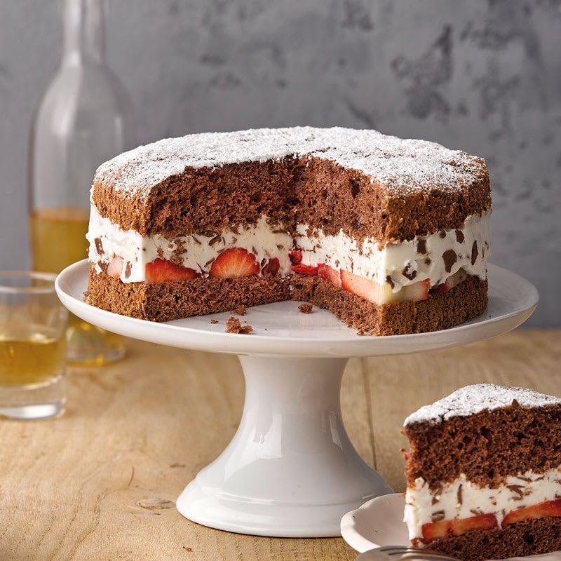 Photo de Gâteau  stracciatella aux fraises prise par WW