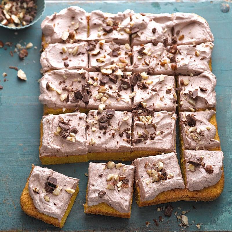 Photo de Gâteau aux carottes et crème au chocolat prise par WW