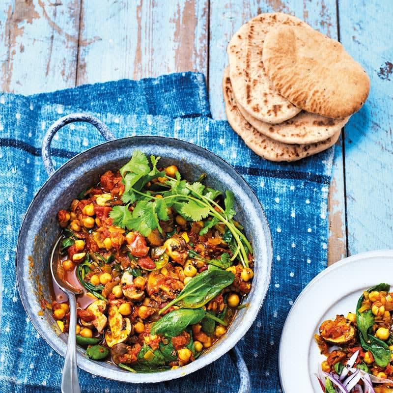 Foto Pilz-Spinat-Curry mit Kichererbsen von WW