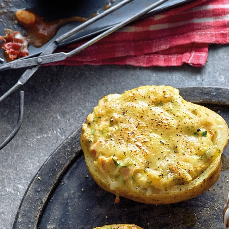 Foto Ofenkartoffeln mit Schinken-Käse-Topping von WW