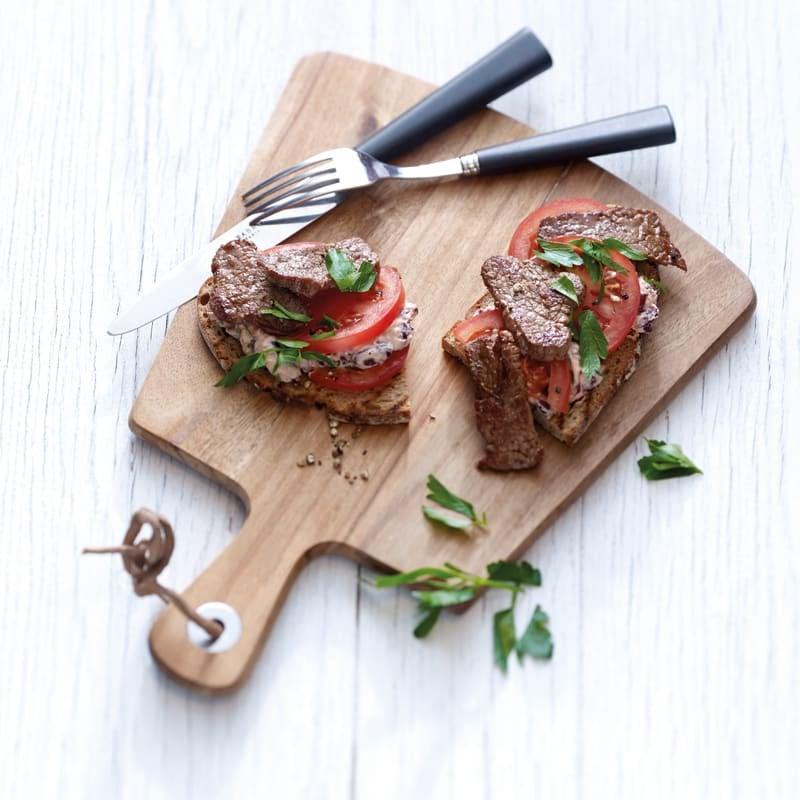 Photo de Bouchées de steak sur tartine prise par WW