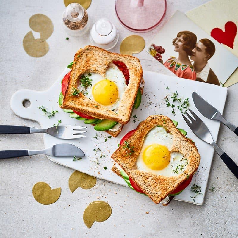 Photo de Cœur de toast avec œuf au plat prise par WW