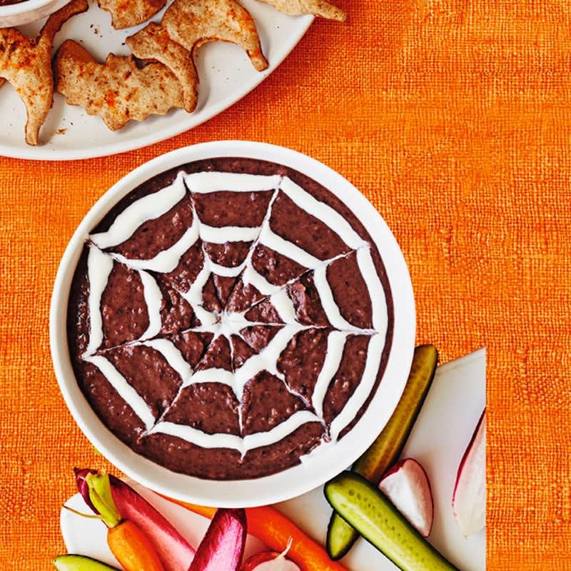 Foto Spinnennetz-Bohnendip von WW