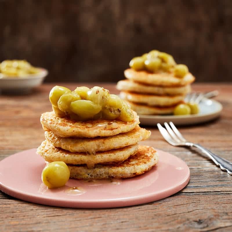Foto Quinoa-Pancakes mit Stachelbeeren von WW
