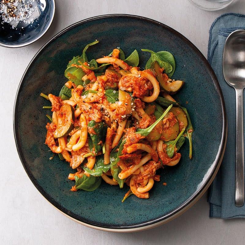 Photo de One-Pot-Pasta au thon, aux épinards et à la tomate prise par WW