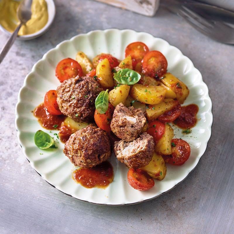 Photo de Salade de pommes de terre et boulettes de viande prise par WW