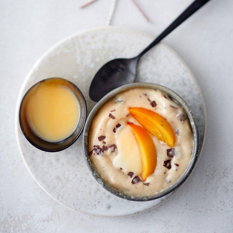 Photo de Crème cannelle glacée à la liqueur aux œufs prise par WW