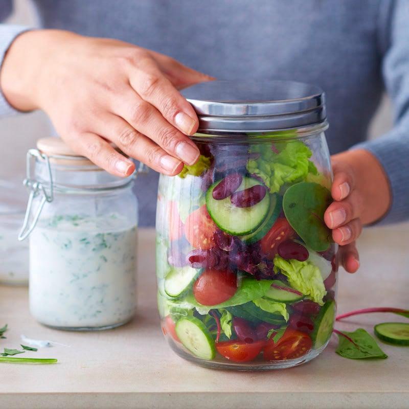Foto Salatpause mit Joghurtdressing von WW