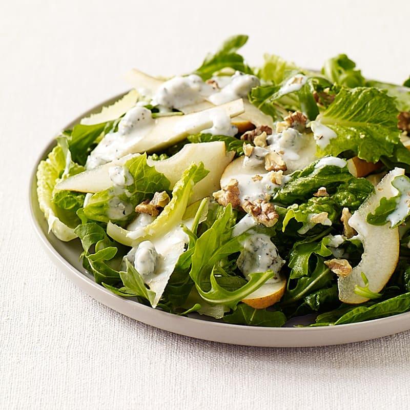 Foto Grüner Salat mit Birnen und Gorgonzola von WW