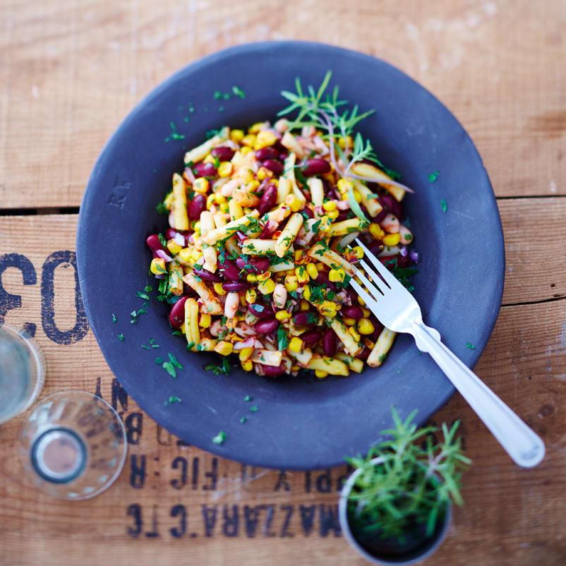 Foto Bohnensalat mit Tomatendressing von WW