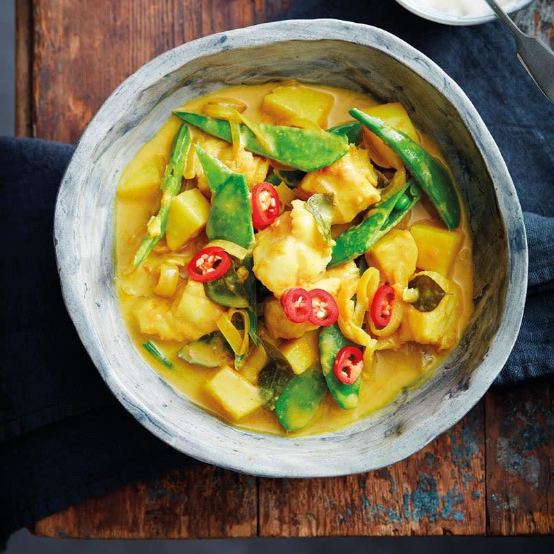 Foto Indisches Fisch-Kartoffel-Curry von WW