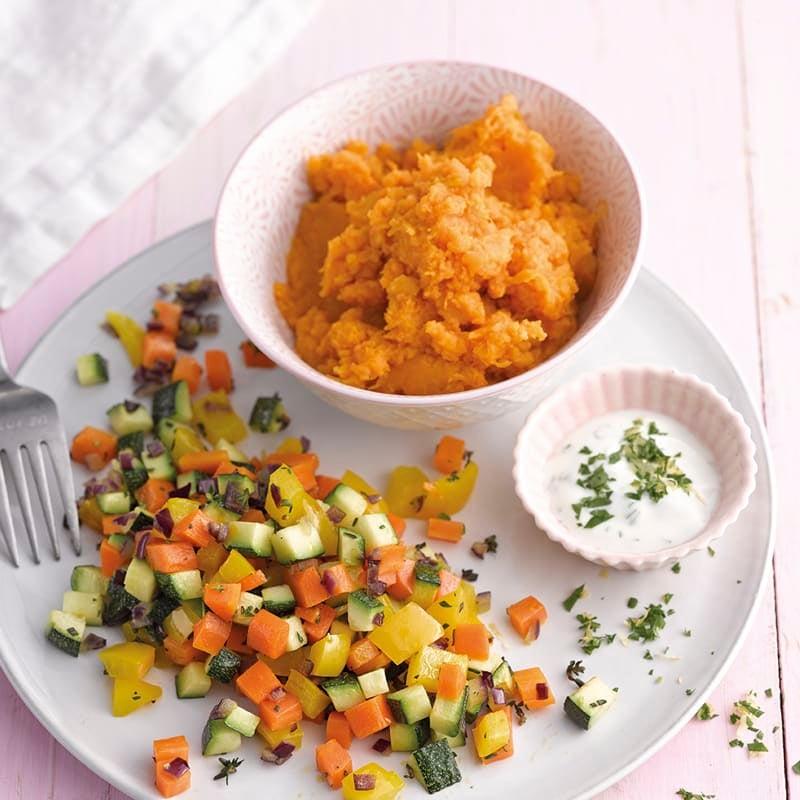 Photo de Purée de patates douces et légumes prise par WW