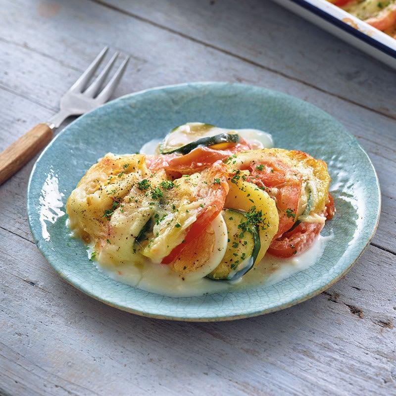 Photo de Gratin de pommes de terre tomate/courgette prise par WW